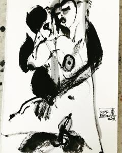 Chinese ink on paper drawings 2017-2019